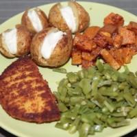 Gepofte aardappelen met vegan mayo