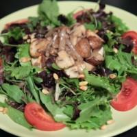 Salade gebakken champignons
