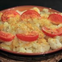Aardappel/bloemkool uit de oven met kokosroom